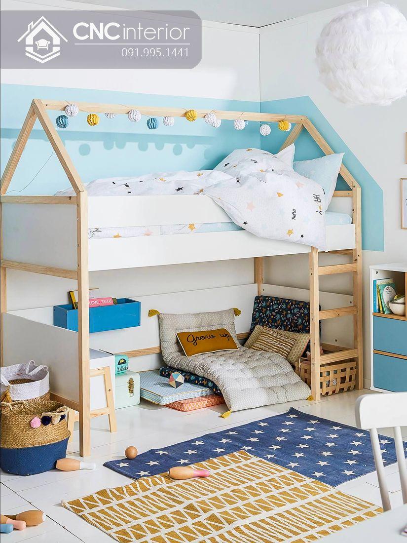 Giường tầng trẻ em đơn giản mà đẹp CNC 12