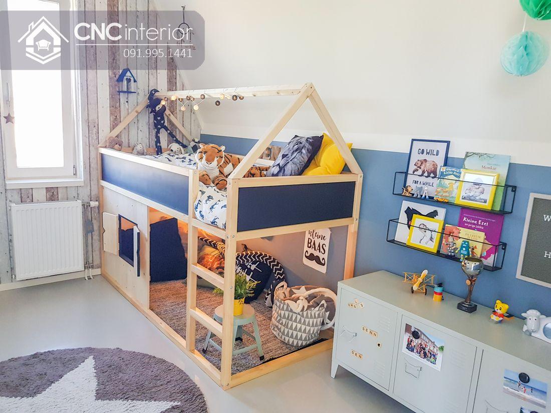 Giường tầng trẻ em đơn giản mà đẹp CNC 12 2