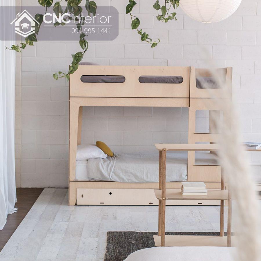 Giường tầng cho bé kiểu đơn giản CNC 20 1