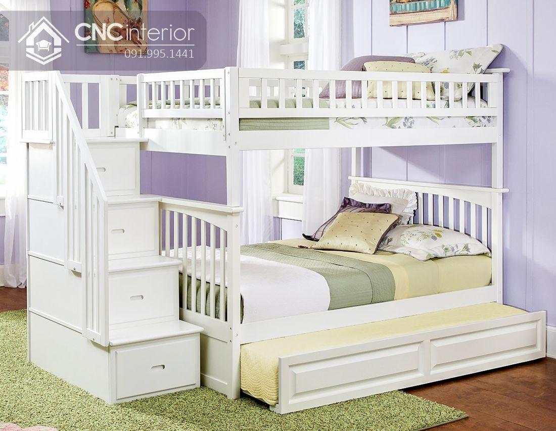 Giường 3 tầng trẻ em gọn gàng CNC 35 1