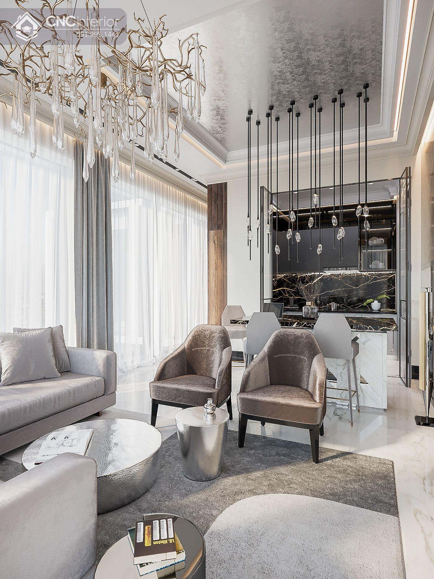 mẫu thiết kế nội thất phòng khách đẹp 2
