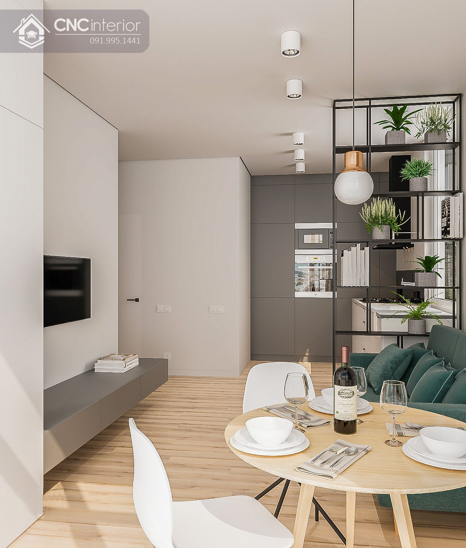 living room với Mảng xanh 21