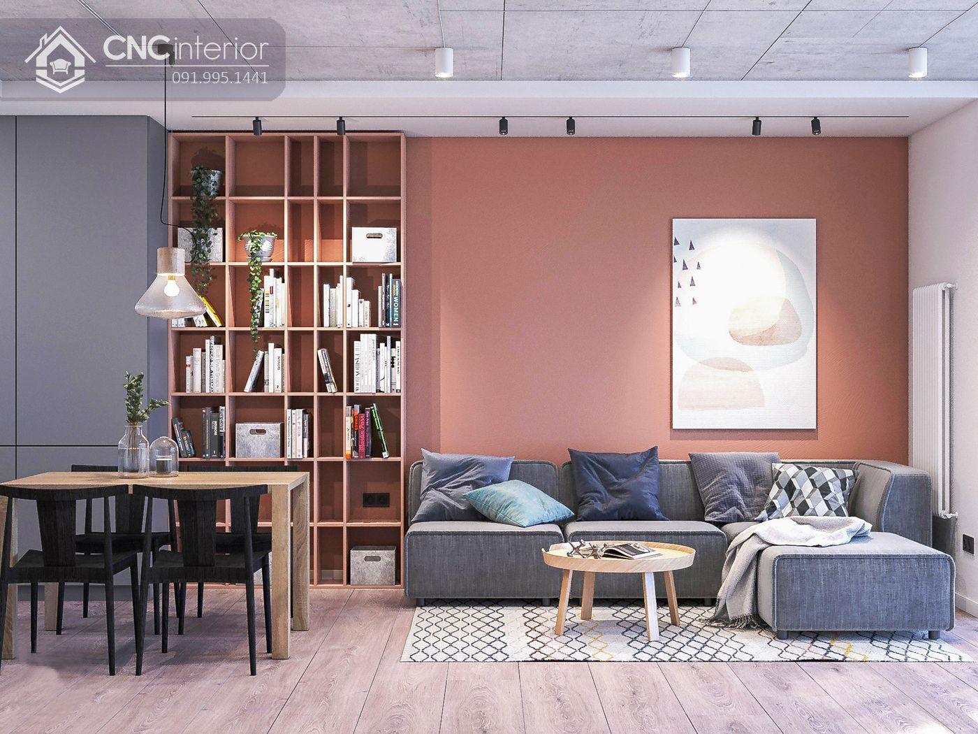mẫu thiết kế nội thất phòng khách đẹp 11