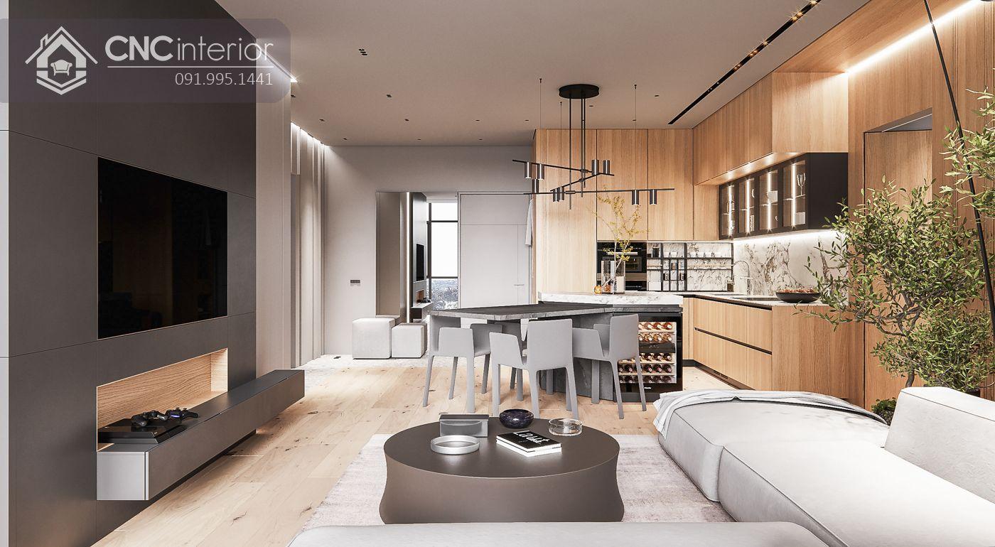 living room liên thông nhà bếp 18