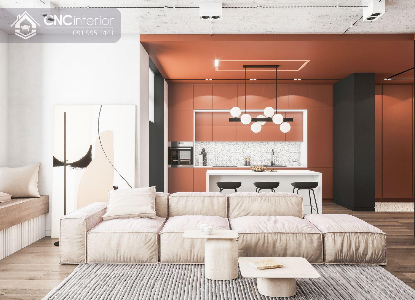 mẫu thiết kế nội thất phòng khách đẹp 3