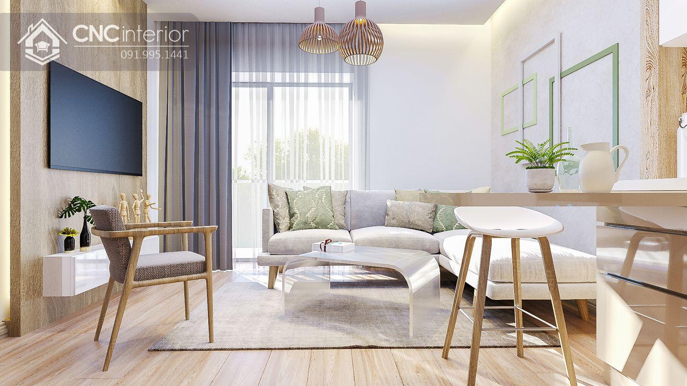 mẫu thiết kế nội thất phòng khách đẹp 10