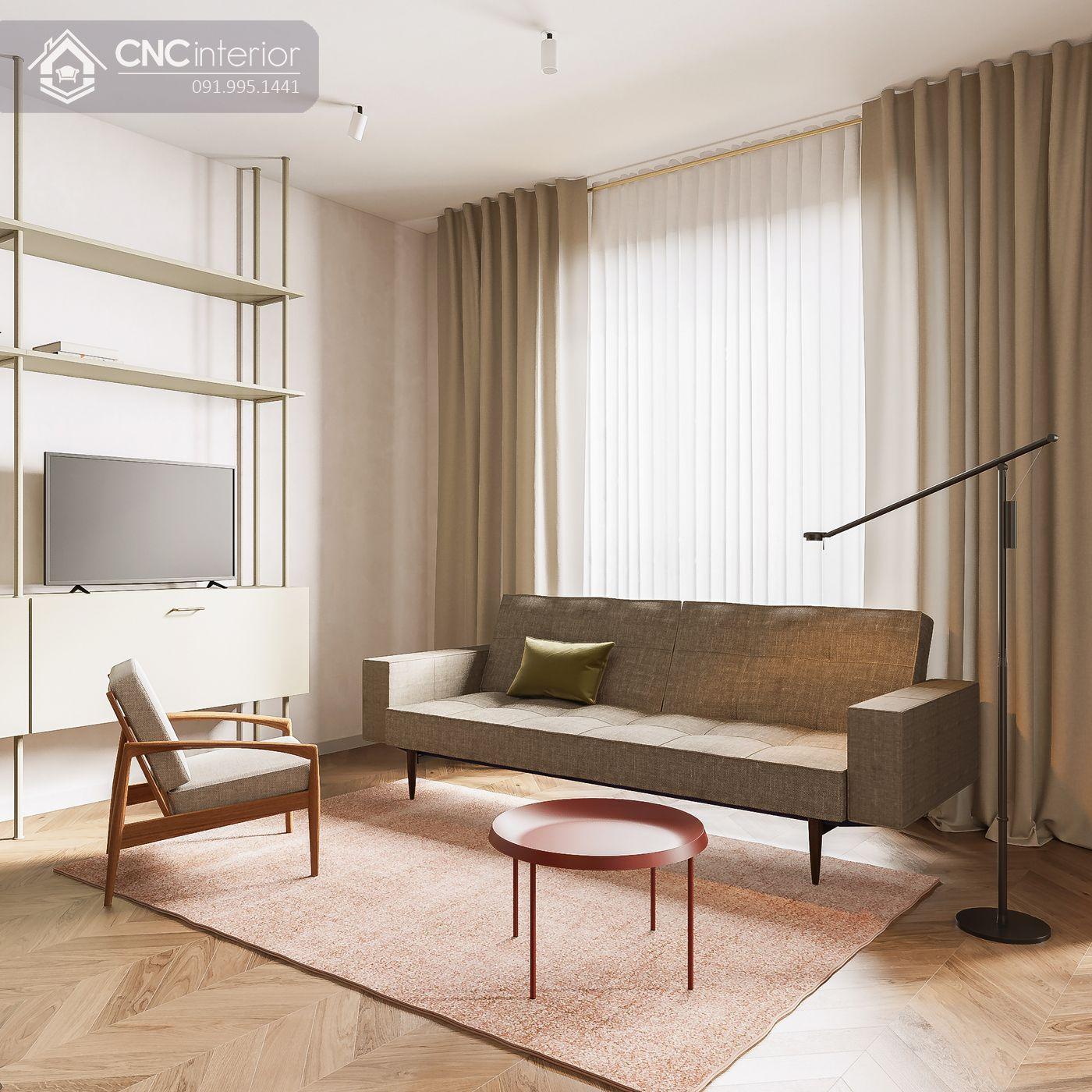 mẫu thiết kế nội thất phòng khách đẹp 12