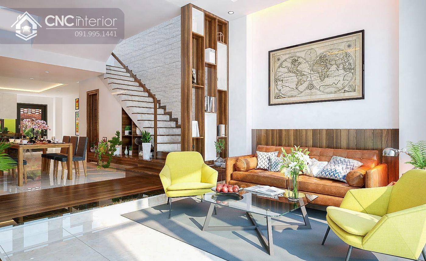 mẫu thiết kế nội thất phòng khách đẹp 9