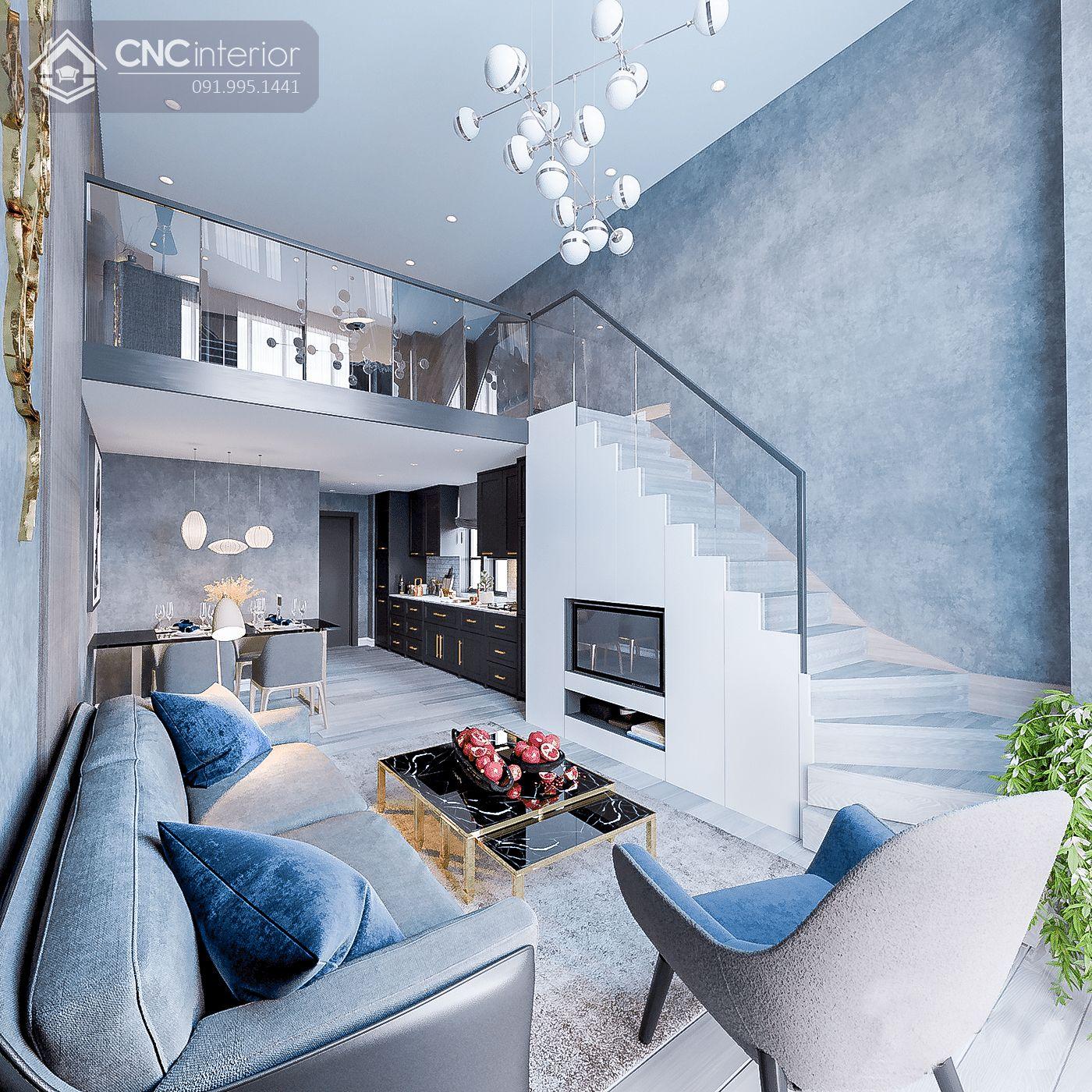 mẫu thiết kế nội thất phòng khách đẹp 15