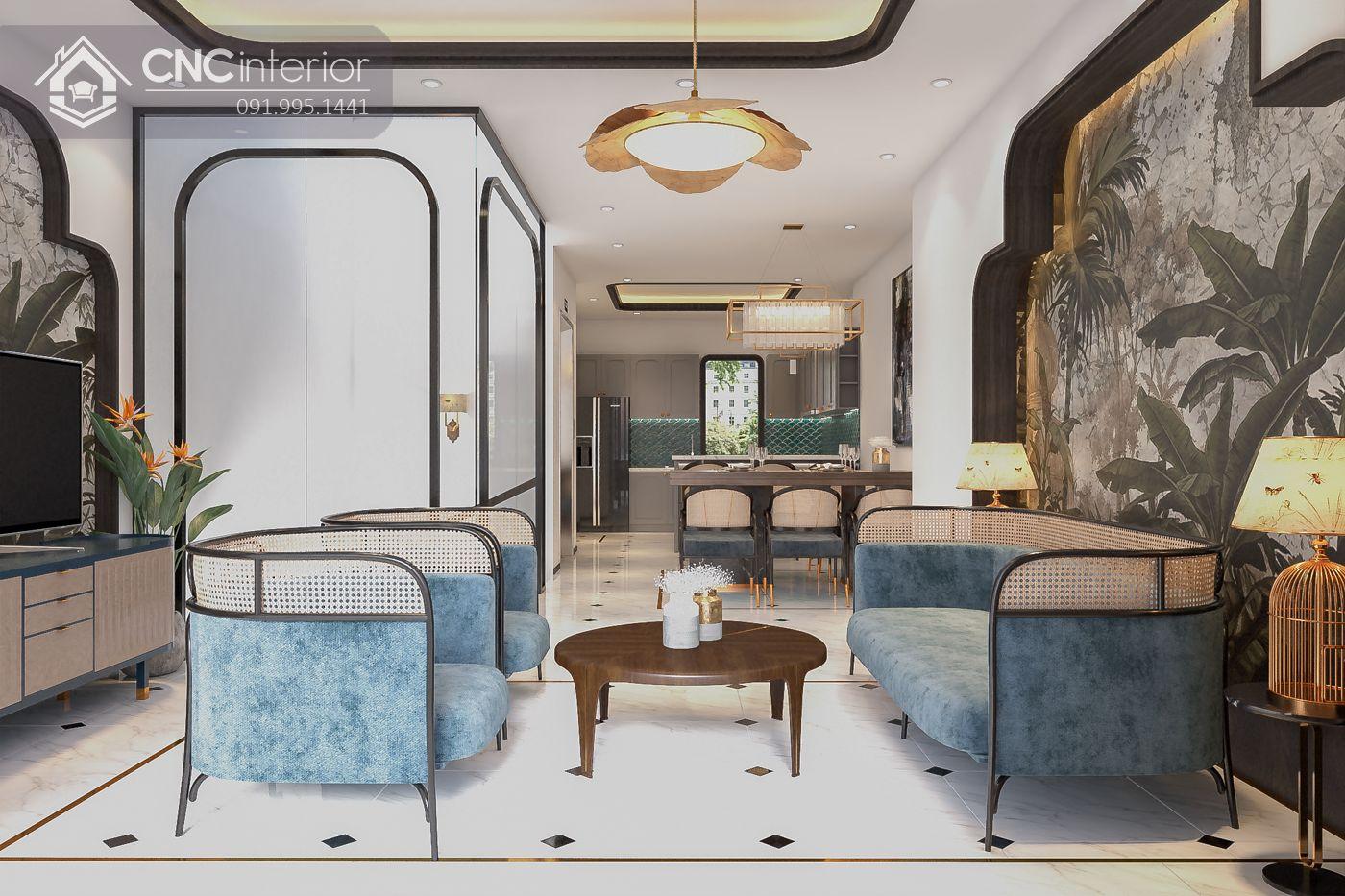 mẫu thiết kế nội thất phòng khách đẹp 4
