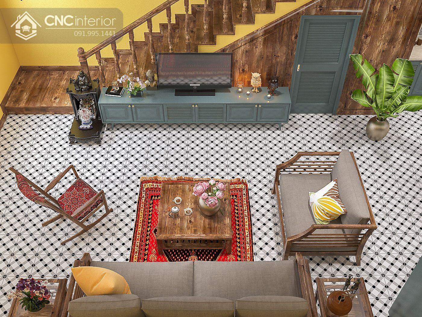 mẫu thiết kế nội thất phòng khách đẹp 5