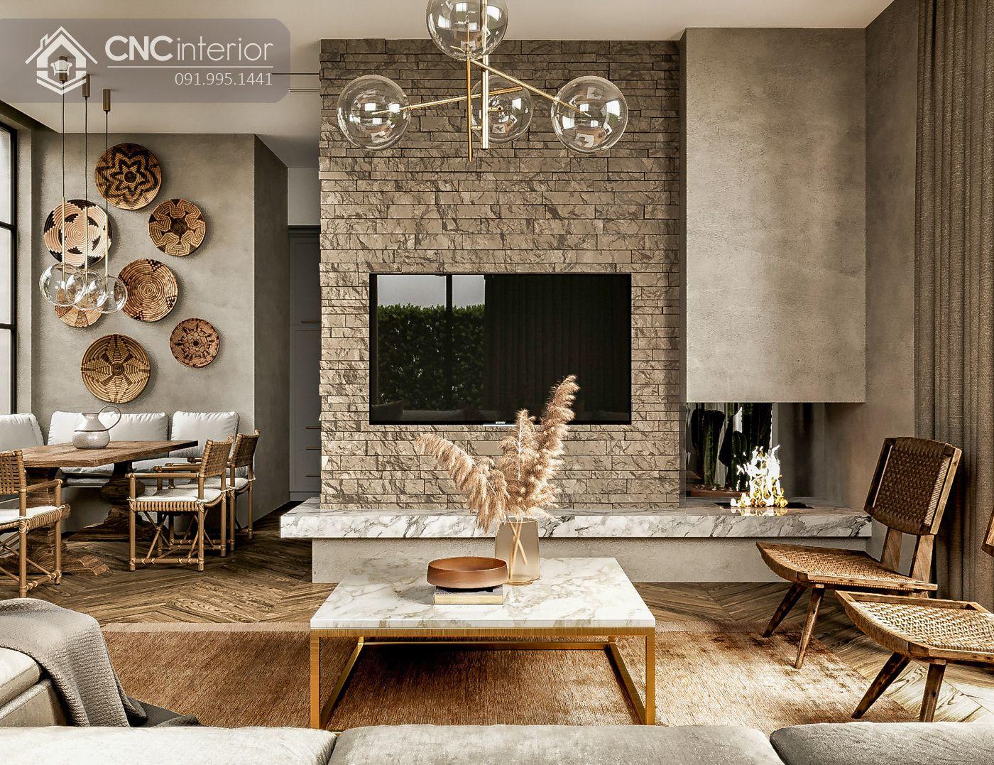mẫu thiết kế nội thất phòng khách đẹp 35