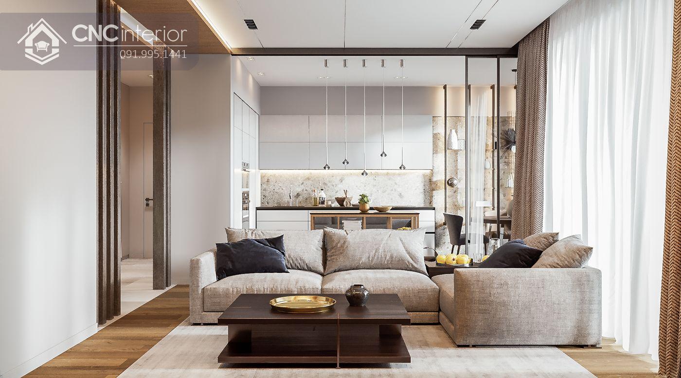 living room liên thông nhà bếp 17