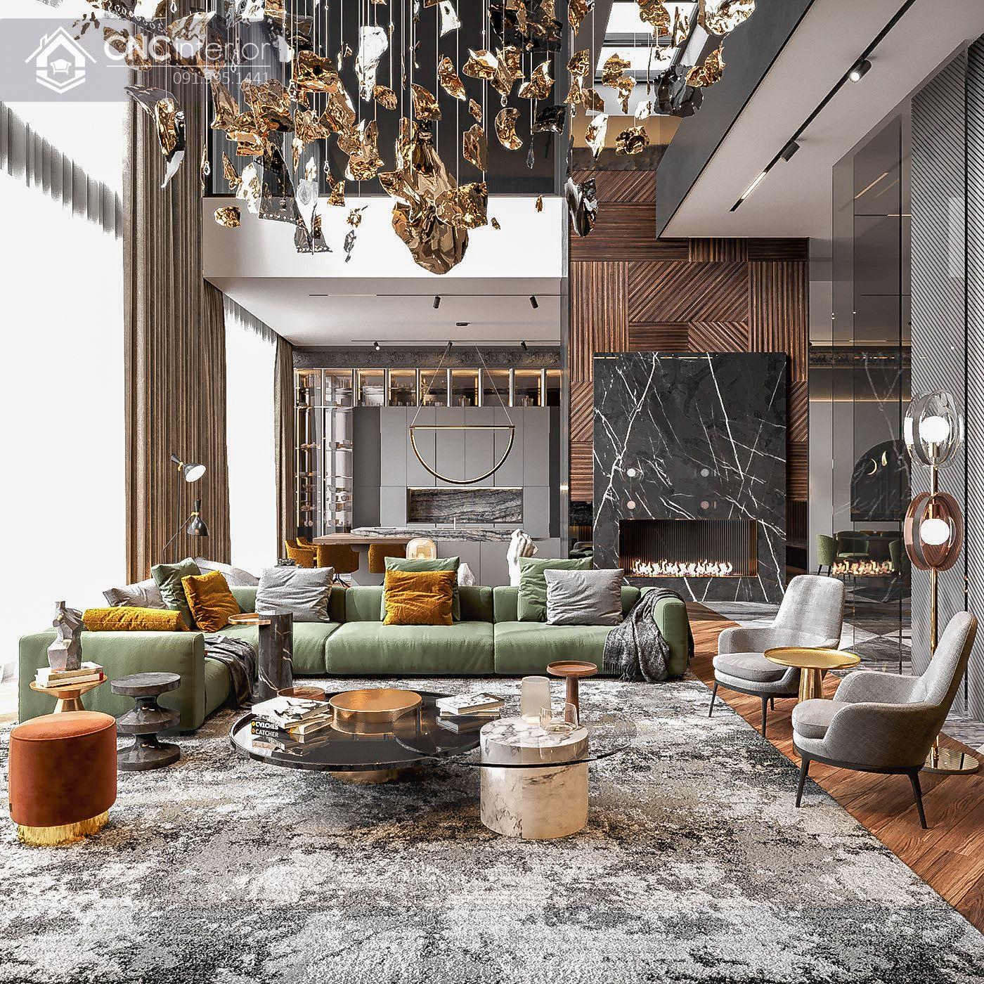 mẫu thiết kế nội thất phòng khách đẹp 7