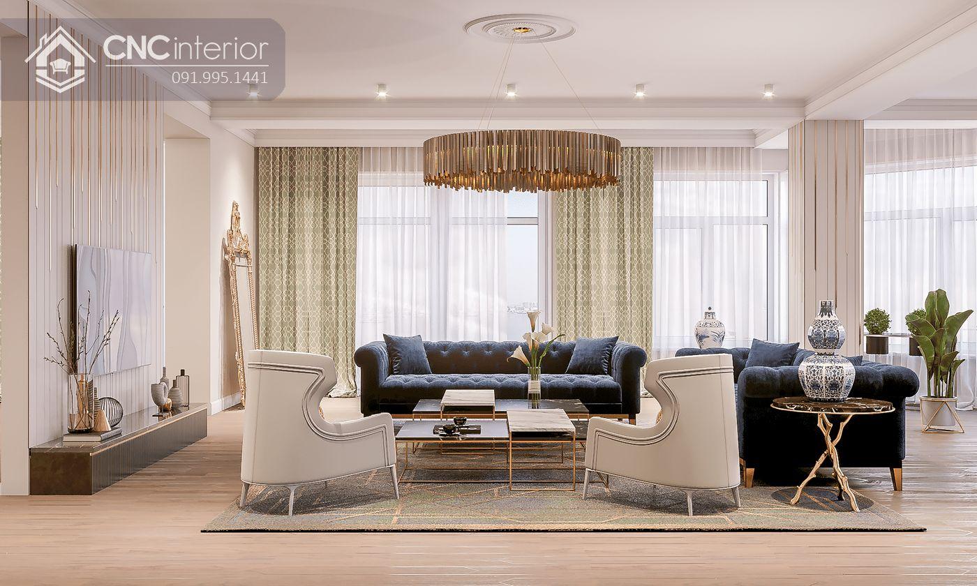living room chú trọng không gian và ánh sáng 23