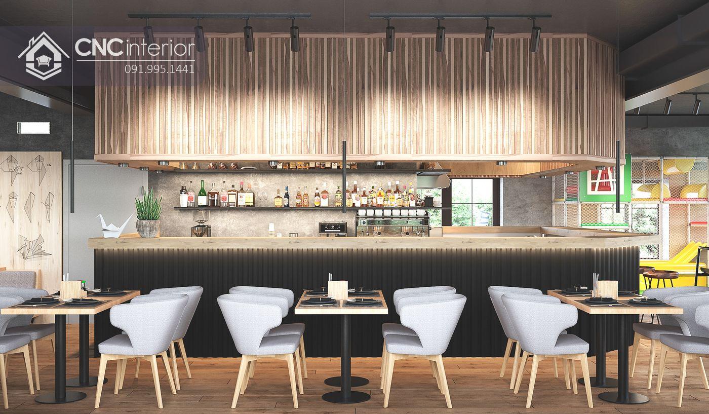 nội thất CNC - Nhà hàng Origa