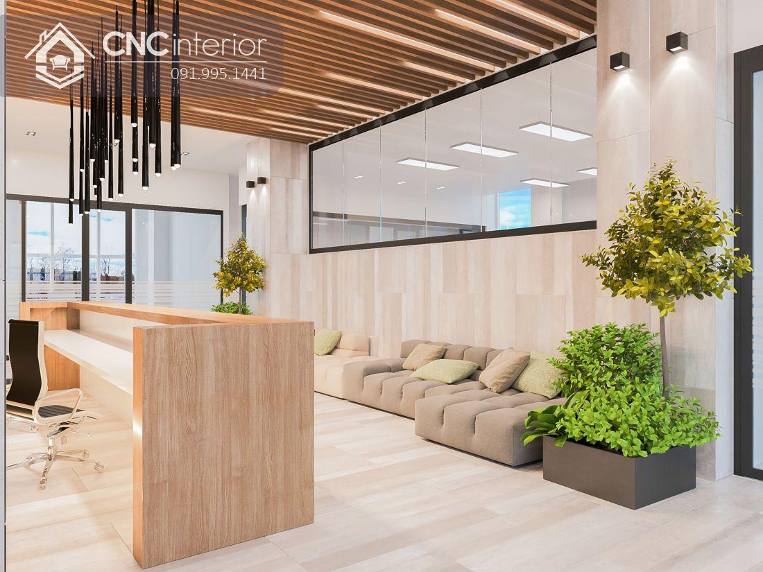 Quầy tiếp tân văn phòng đẹp CNC 20 1
