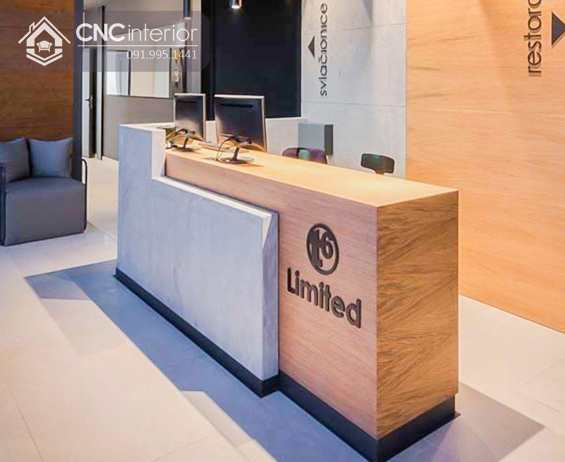 Quầy lễ tân đẹp cho công ty CNC 25