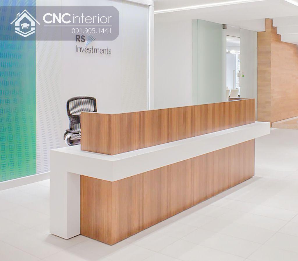 Quầy lễ tân gỗ công nghiệp hiện đại CNC 33