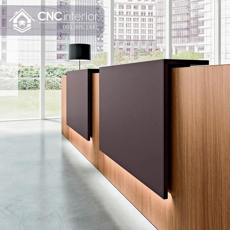 Quầy lễ tân bằng gỗ hiện đại CNC 36 1