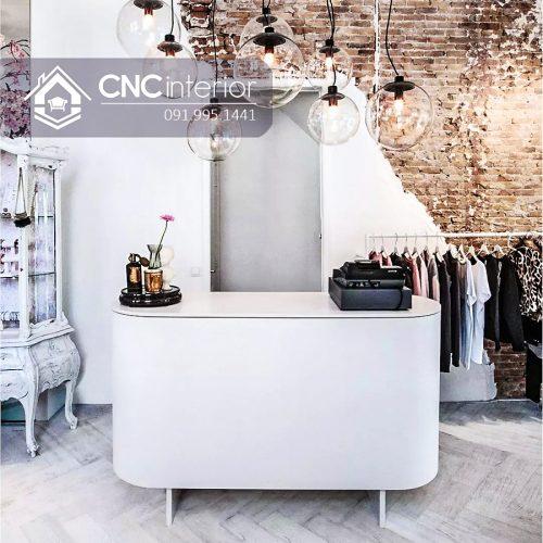 Quầy thu ngân mini phù hợp với shop thời trang, quán café nhỏ.