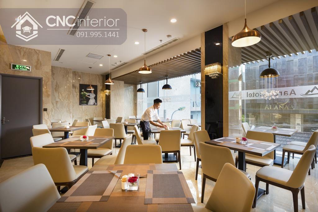 Phòng ăn gam màu beige nhã nhặn, thanh lịch 21