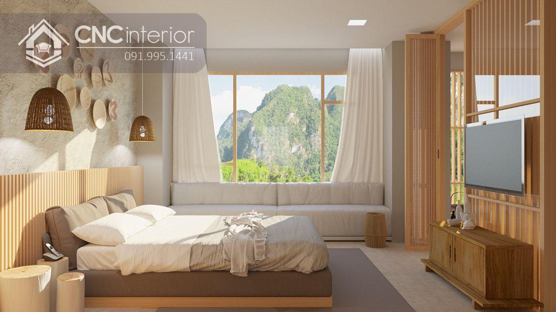 Nên sử dụng tông màu sáng như trắng, kem hay vàng nhạt cho giường ngủ 16