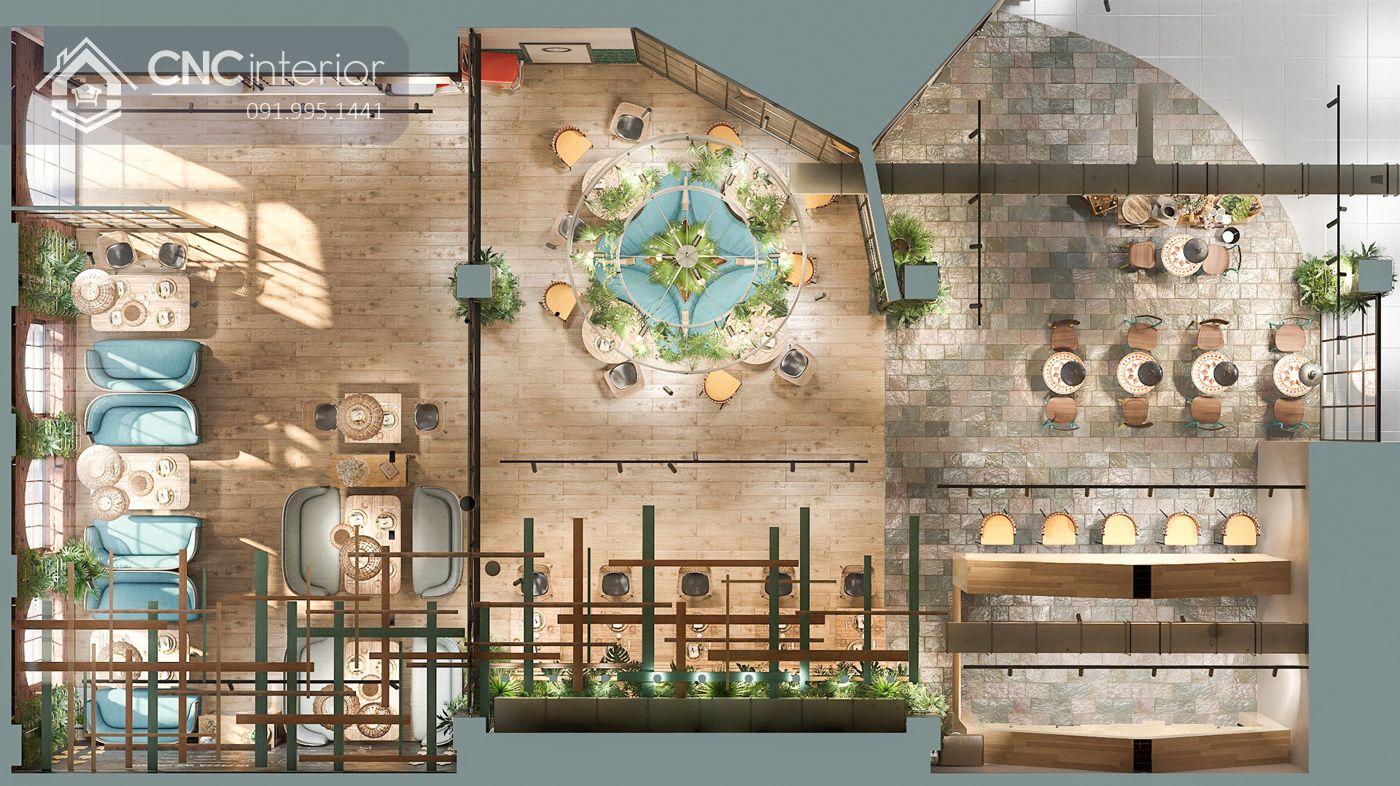 các mẫu thiết kế nội thất nhà hàng đẹp 4