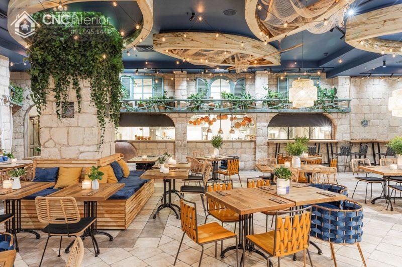 các mẫu thiết kế nội thất nhà hàng đẹp
