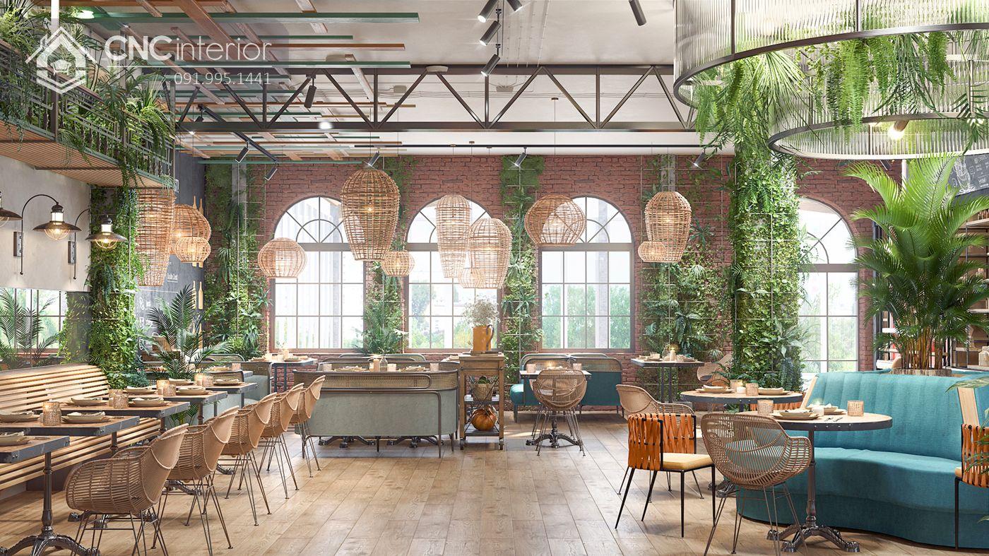 các mẫu thiết kế nội thất nhà hàng đẹp 5