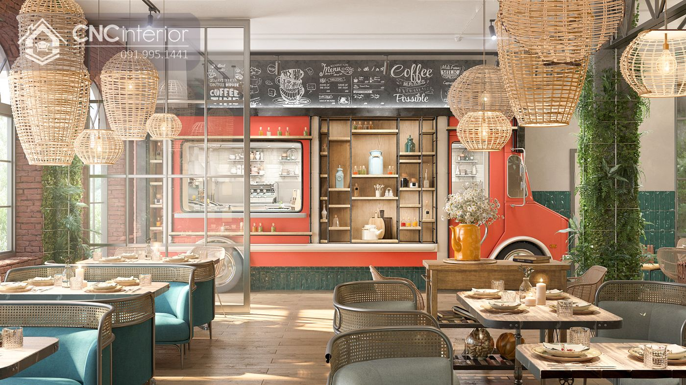 các mẫu thiết kế nội thất nhà hàng đẹp 7