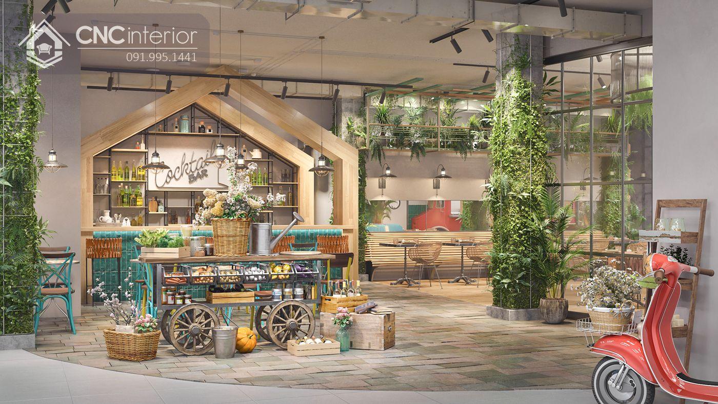 các mẫu thiết kế nội thất nhà hàng đẹp 3