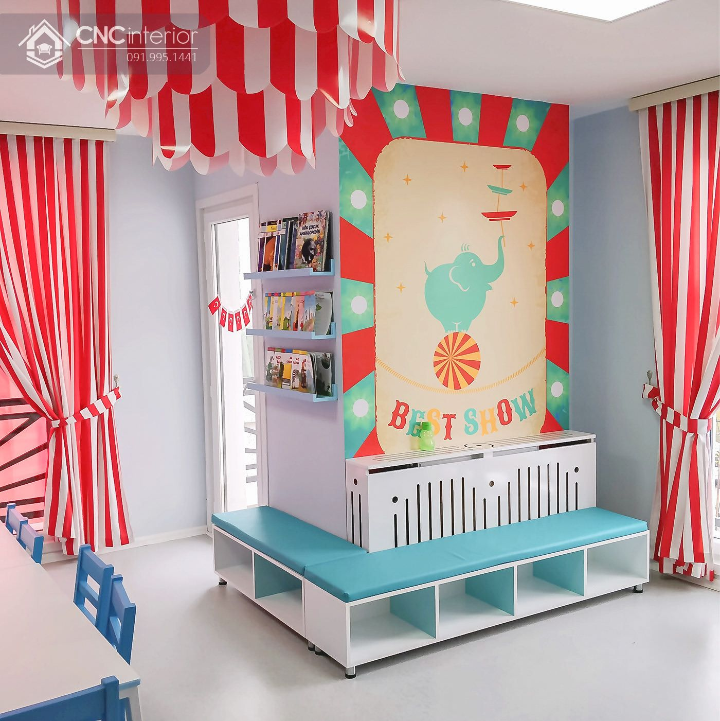 thiết kế nội thất trường mầm non 4
