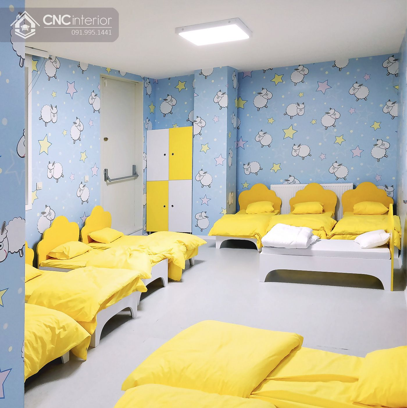 Phòng ngủ trong kindergarten 17