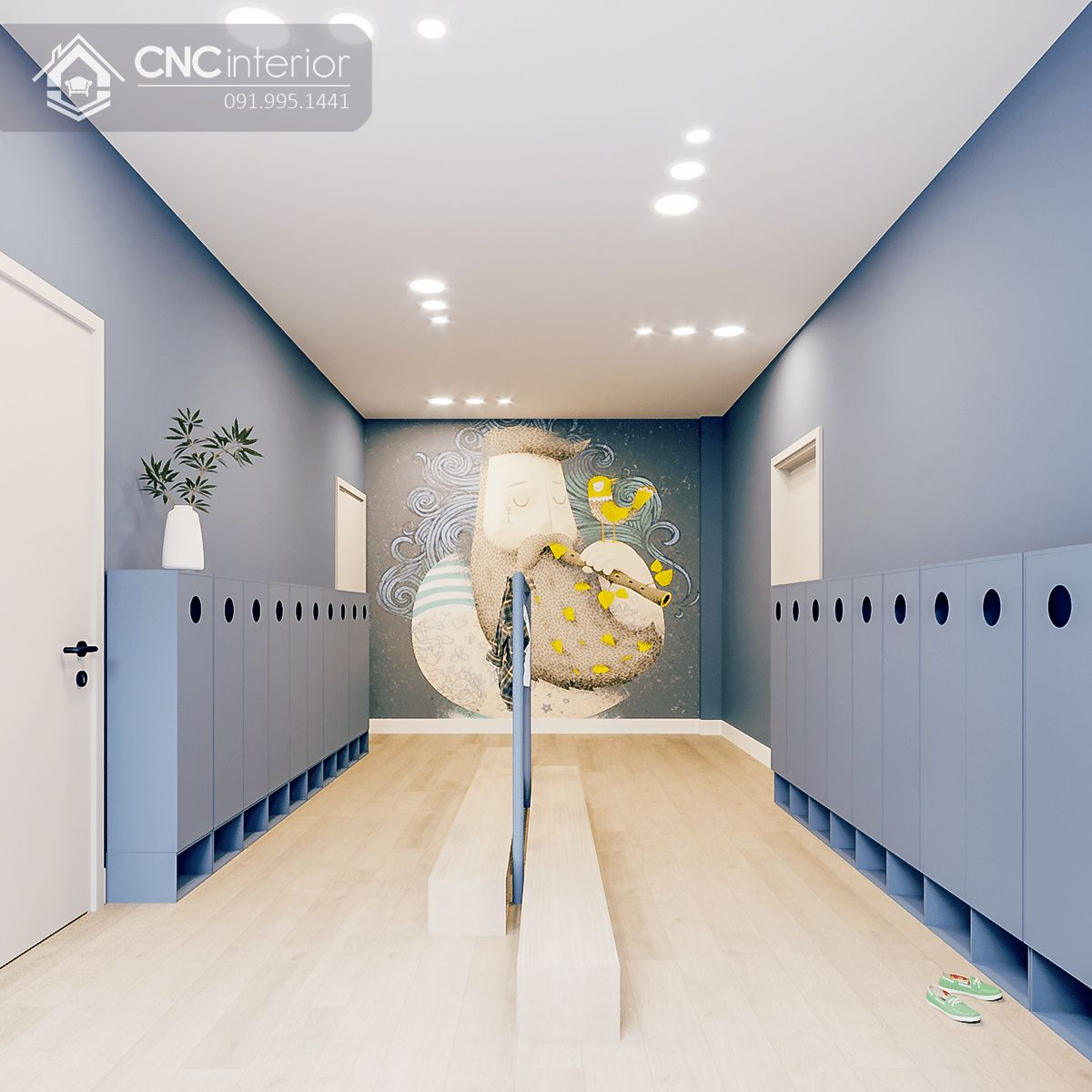 thiết kế nội thất trường mầm non 8