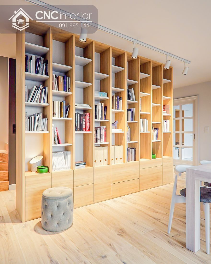 Những mẫu tủ sách văn phòng được thiết kế kịch trần rất ấn tượng