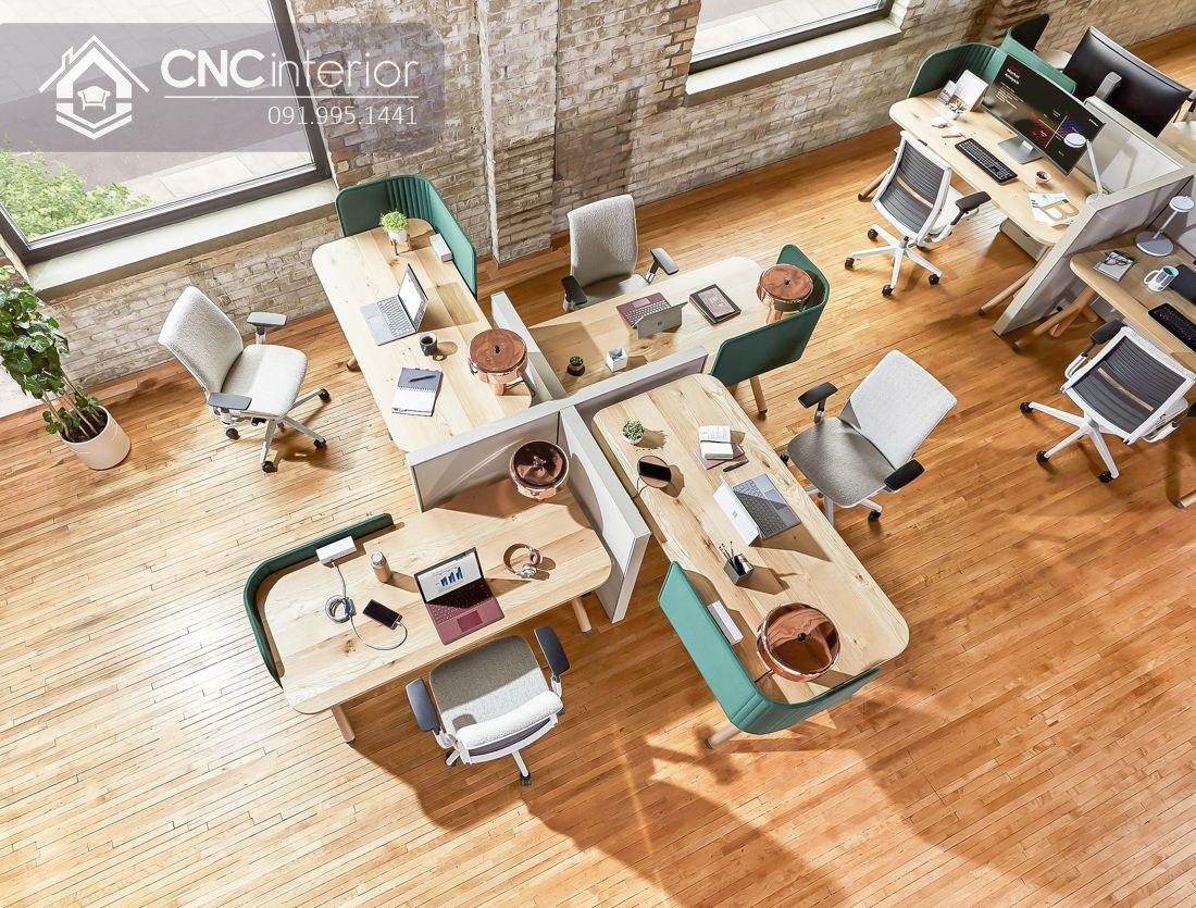 Bàn ghế văn phòng gỗ tự nhiên (3)
