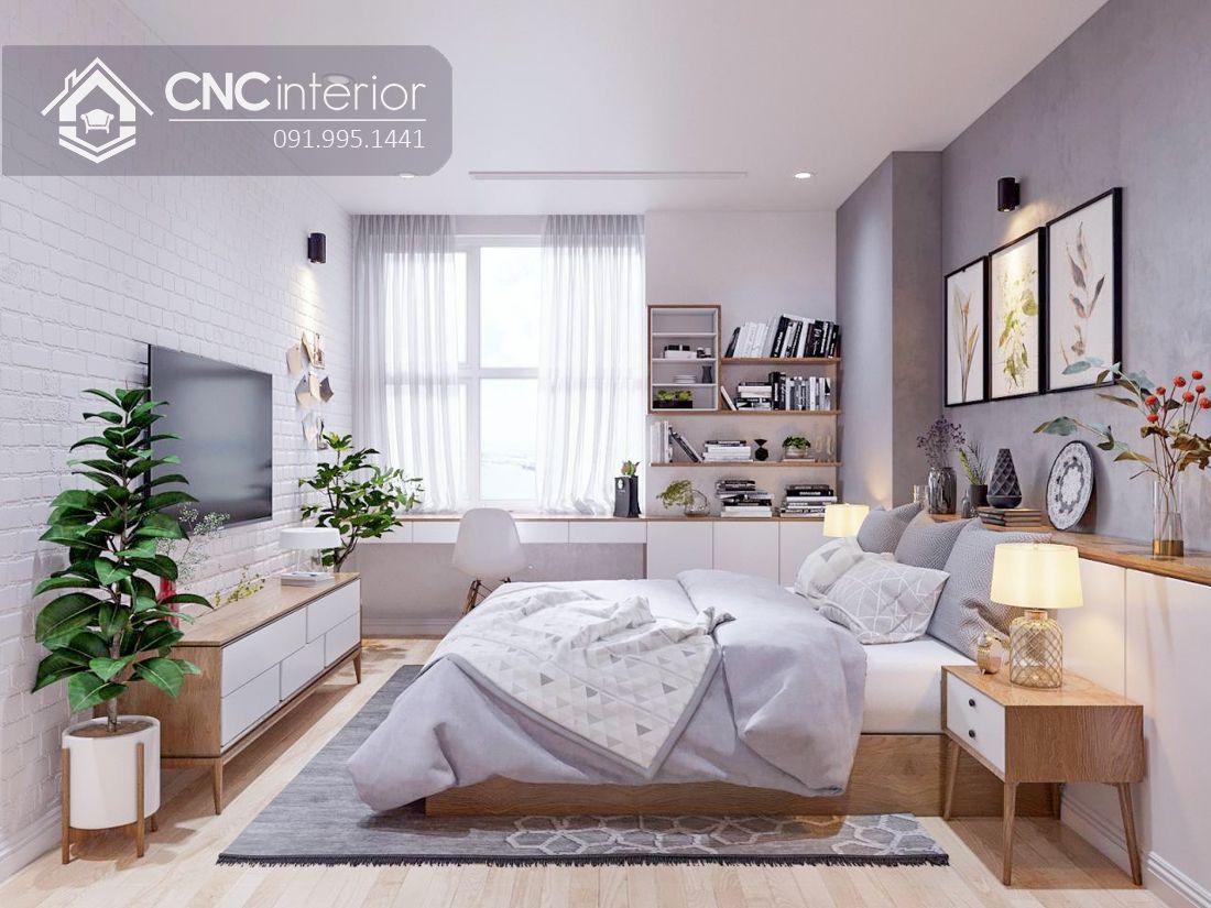 Giường ngủ gỗ công nghiệp phong cách hiện đại CNC 51