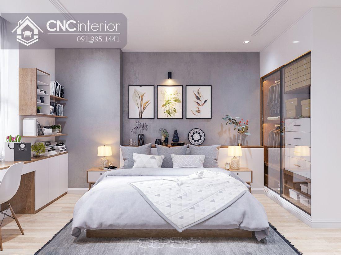 Giường ngủ gỗ công nghiệp phong cách hiện đại CNC 51 1