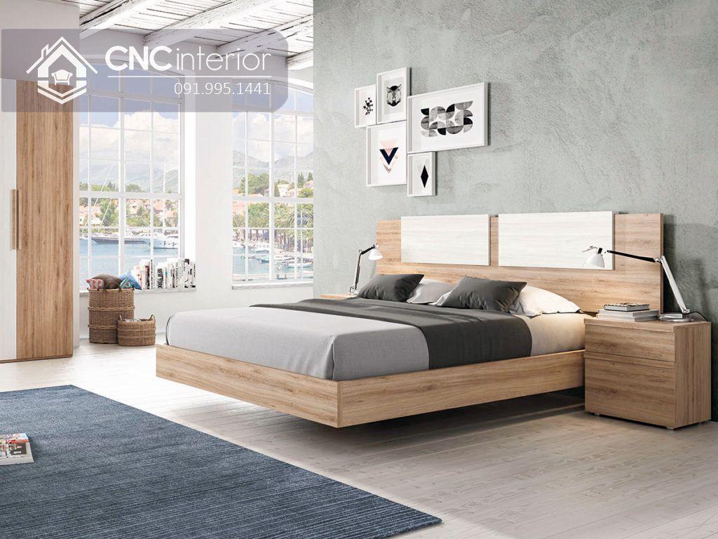 Giường ngủ hiện đại từ gỗ công nghiệp MFC CNC 53