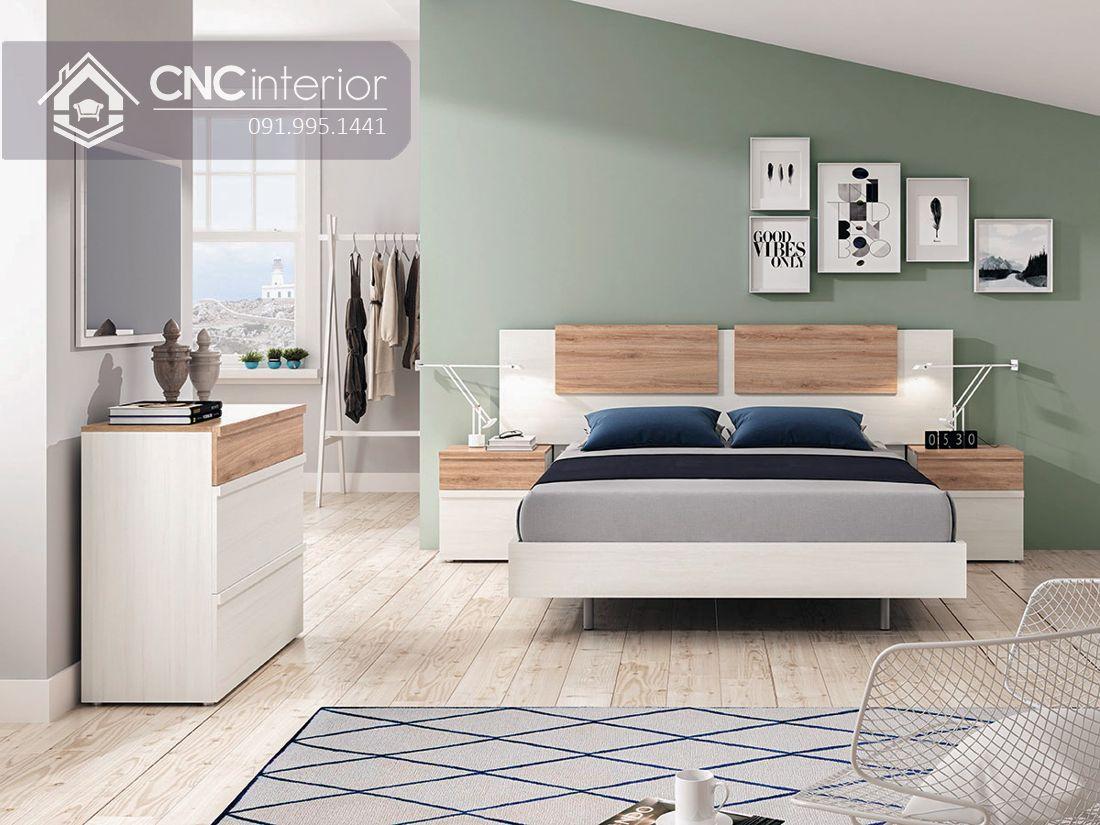 Giường ngủ hiện đại từ gỗ công nghiệp MFC CNC 53 1