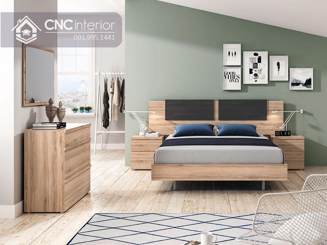 Giường ngủ hiện đại từ gỗ công nghiệp MFC CNC 53 2