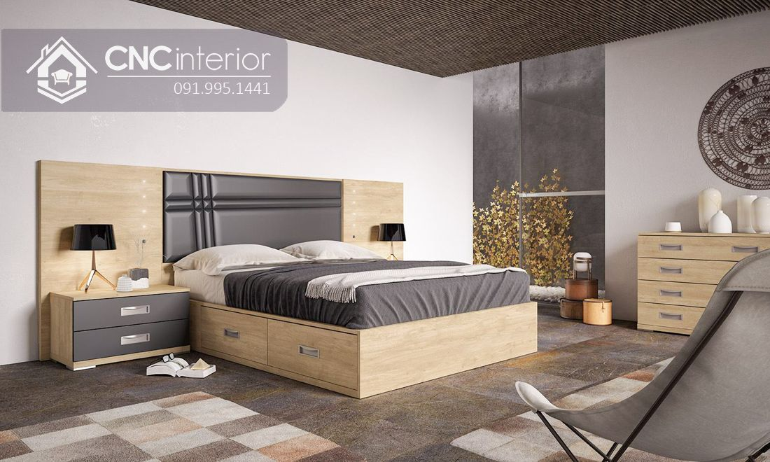 Giường ngủ đẹp CNC 54
