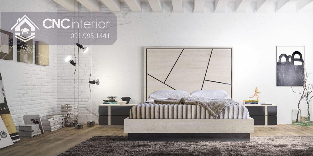 Giường ngủ gỗ công nghiệp bền đẹp CNC 58 4