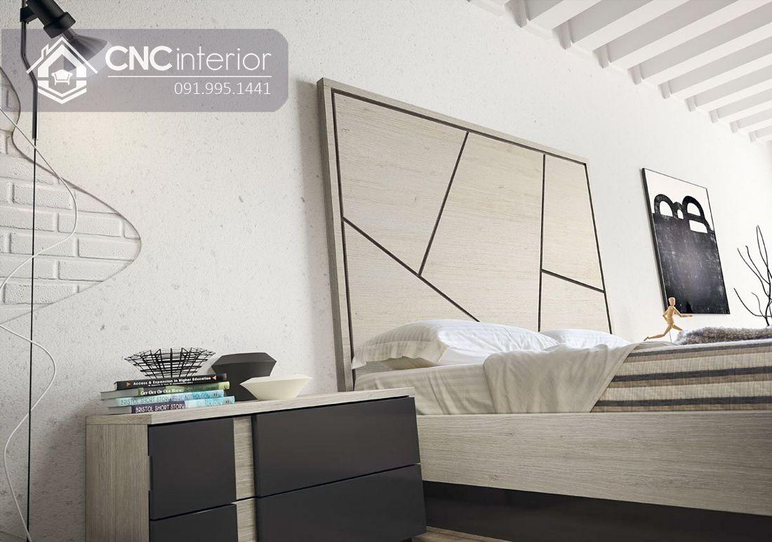 Giường ngủ gỗ công nghiệp bền đẹp CNC 58 5