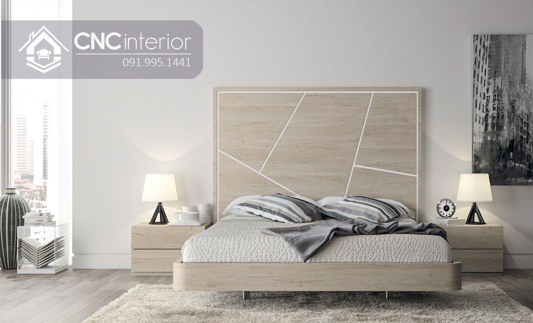 Giường ngủ gỗ công nghiệp bền đẹp CNC 58 3