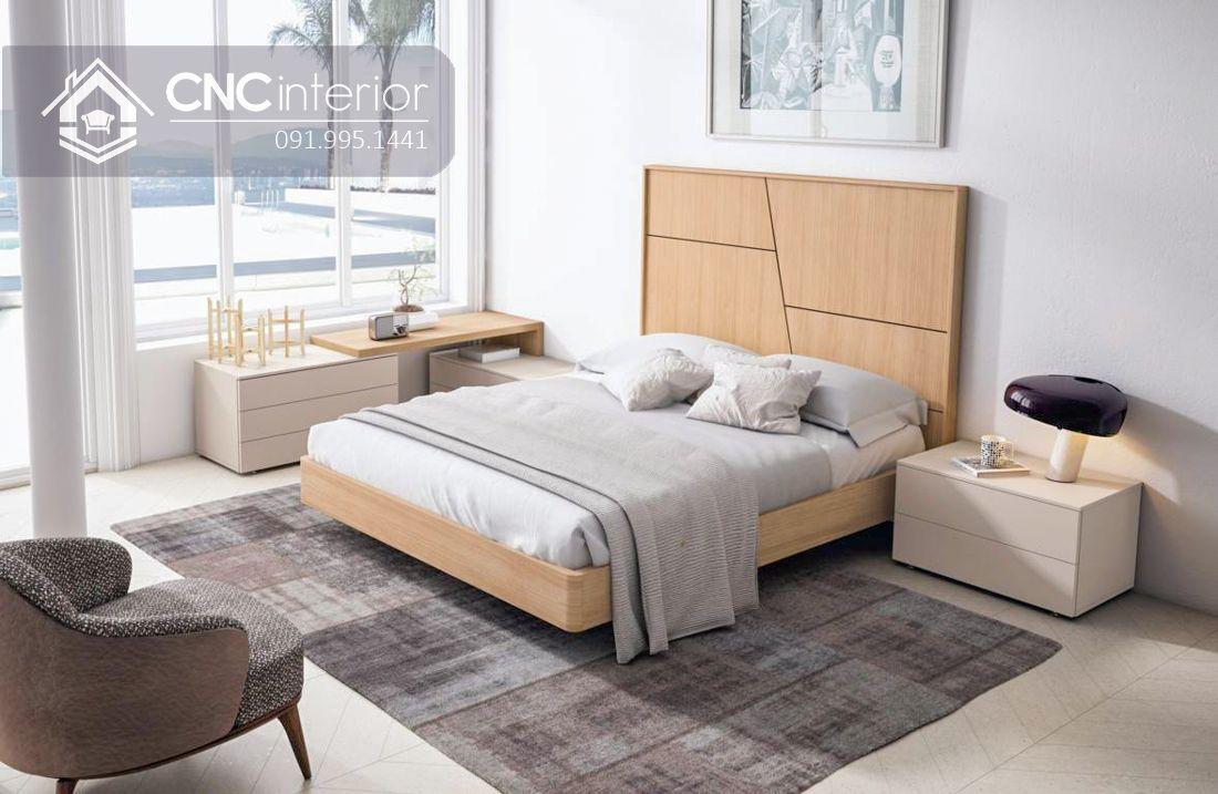 Giường ngủ gỗ công nghiệp bền đẹp CNC 58 2