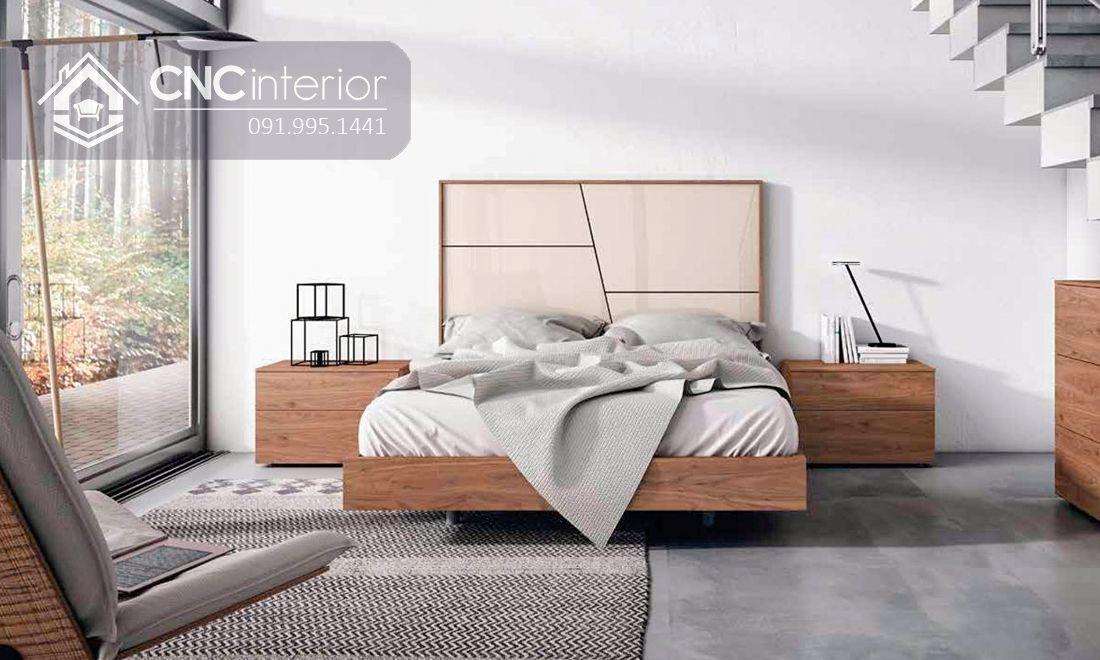 Giường ngủ gỗ công nghiệp bền đẹp CNC 58 6