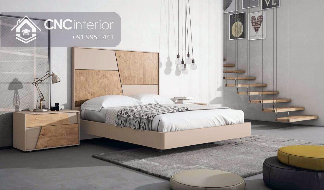 Giường ngủ gỗ công nghiệp bền đẹp CNC 58