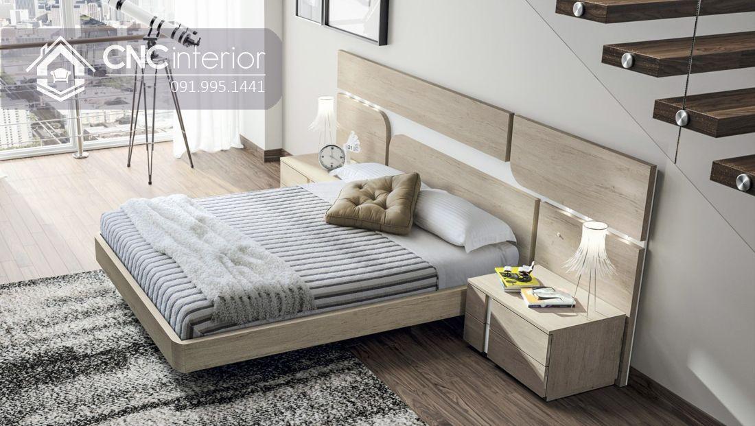 Giường ngủ đẹp bằng gỗ công nghiệp bền chắc CNC 60 3